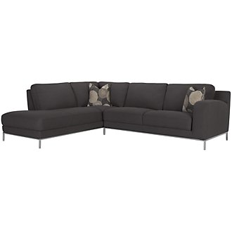 Product Image: Aria Dk Gray Fabric Left Bumper Sectional
