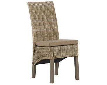Jaden Light Tone Cushioned Woven Side Chair