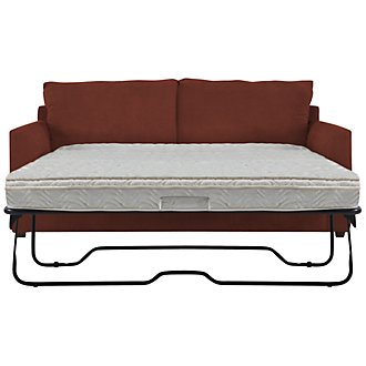 Product Image: Express3 Red Microfiber Innerspring Sleeper