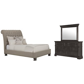 Product Image: Emerson Gray Upholstered Platform Bedroom