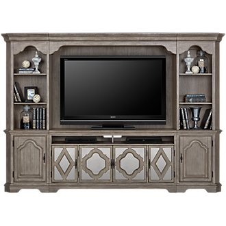 Corinne Light Tone Entertainment Wall