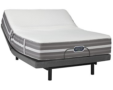 Beautyrest Marlee Plush Hybrid Deluxe Adjustable Mattress Set