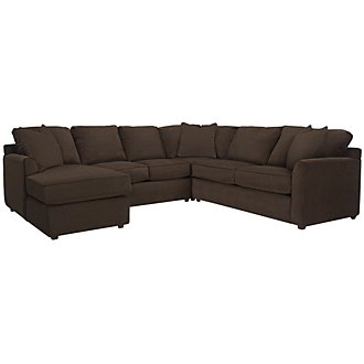 Product Image: Express3 Dk Brown Microfiber Small Left Chaise Sectional