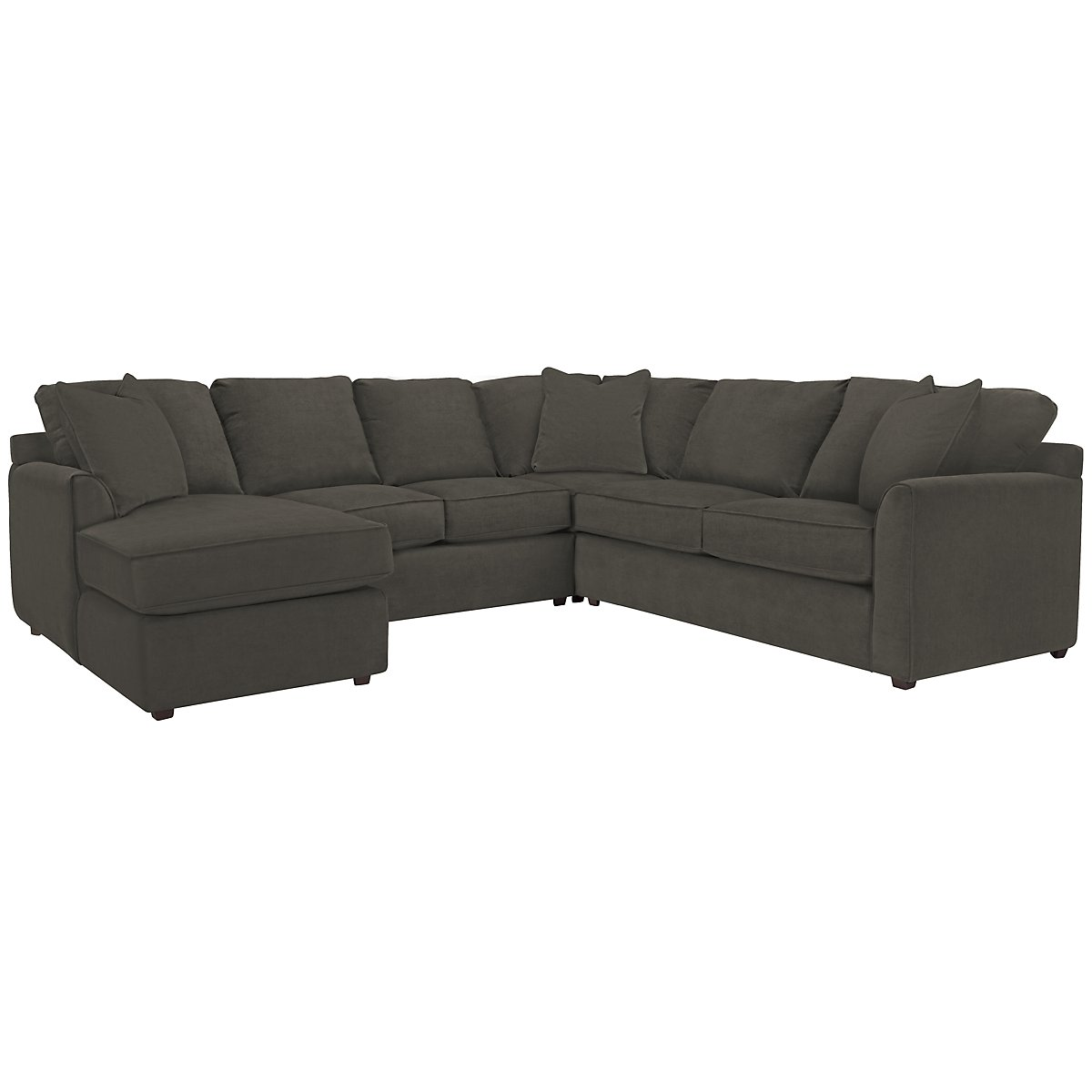 Express3 Dk Gray Microfiber Small Left Chaise Sectional