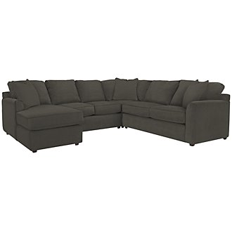 Product Image: Express3 Dk Gray Microfiber Small Left Chaise Sectional