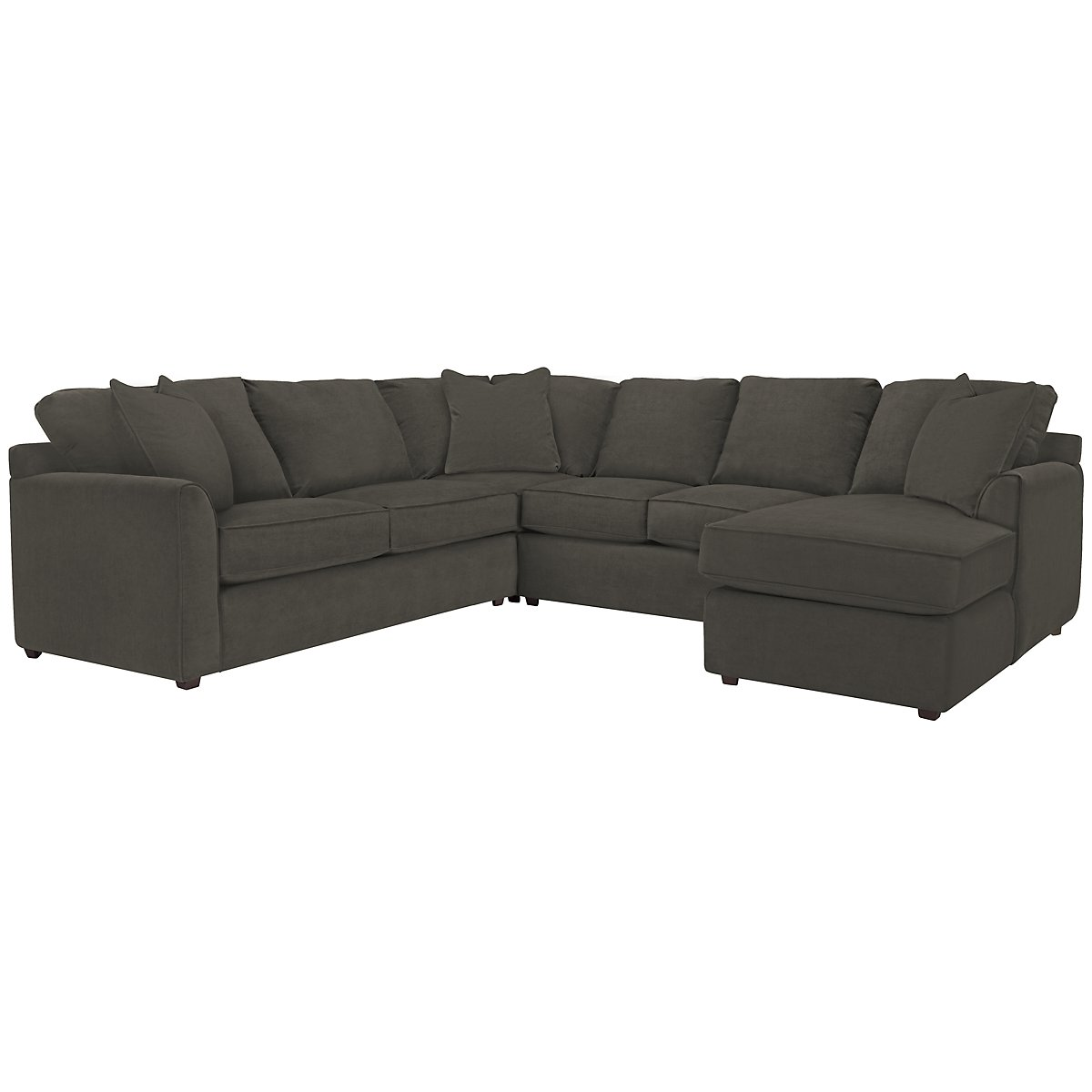 Express3 Dark Gray Microfiber Small Right Chaise Sectional