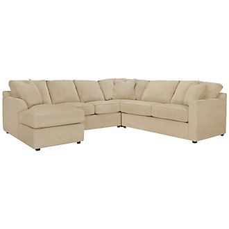 Product Image: Express3 Lt Beige Microfiber Small Left Chaise Sectional