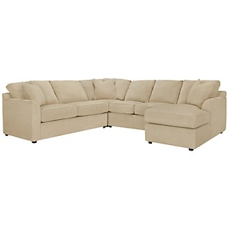 Product Image: Express3 Lt Beige Microfiber Small Right Chaise Sectional