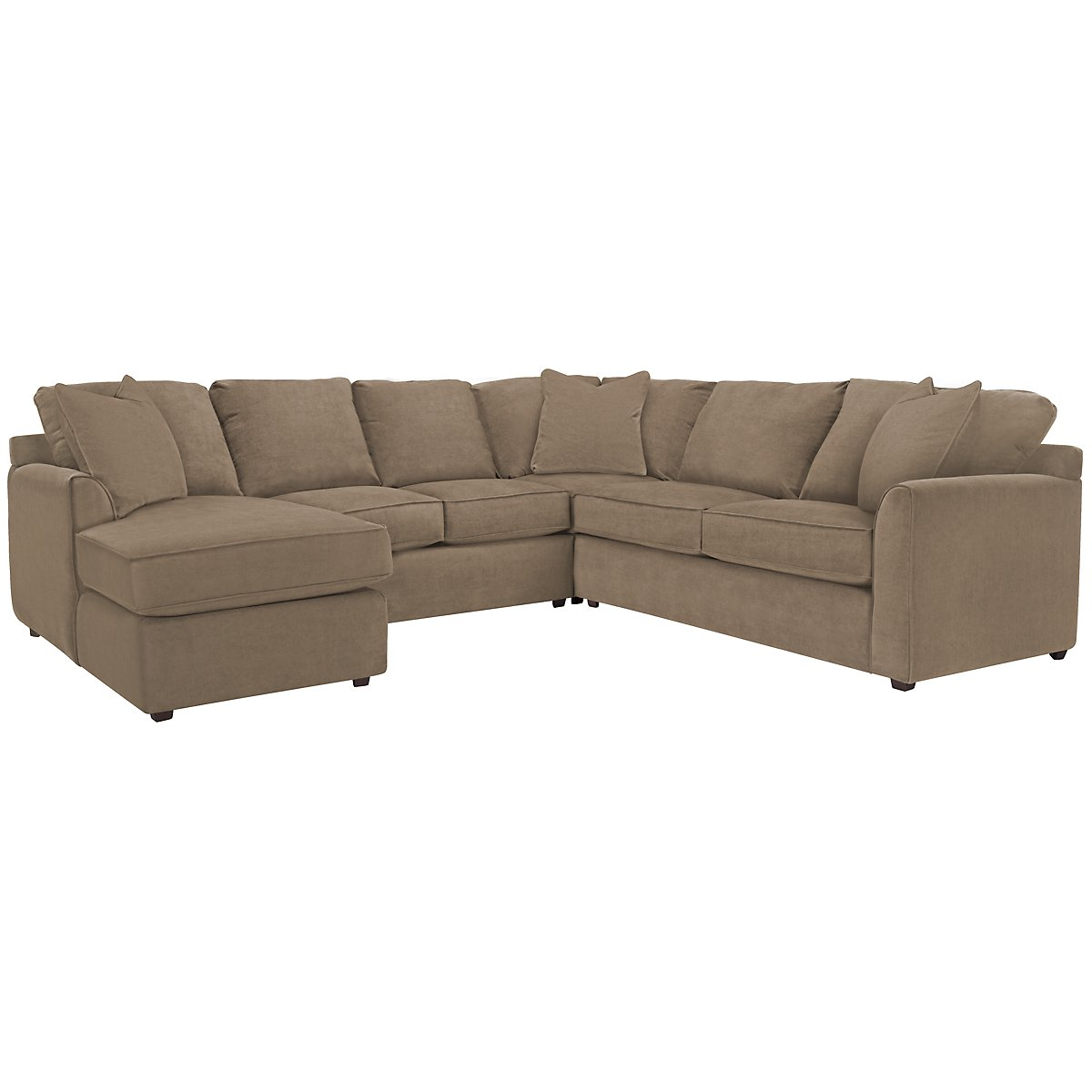 Express3 Lt Brown Microfiber Small Left Chaise Sectional