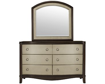 Sunset Dark Tone Dresser & Mirror