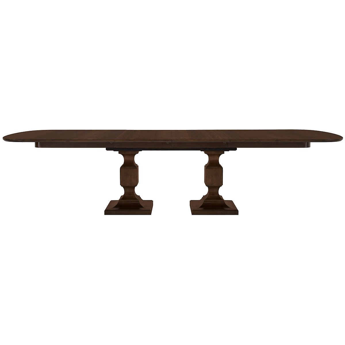 Haven Mid Tone Rectangular Pedestal Table