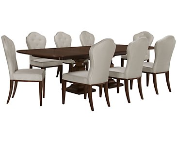 Haven Mid Tone Rectangular Table & 4 Chairs