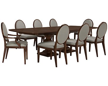 Haven Mid Tone Rectangular Table & 4 Round Chairs