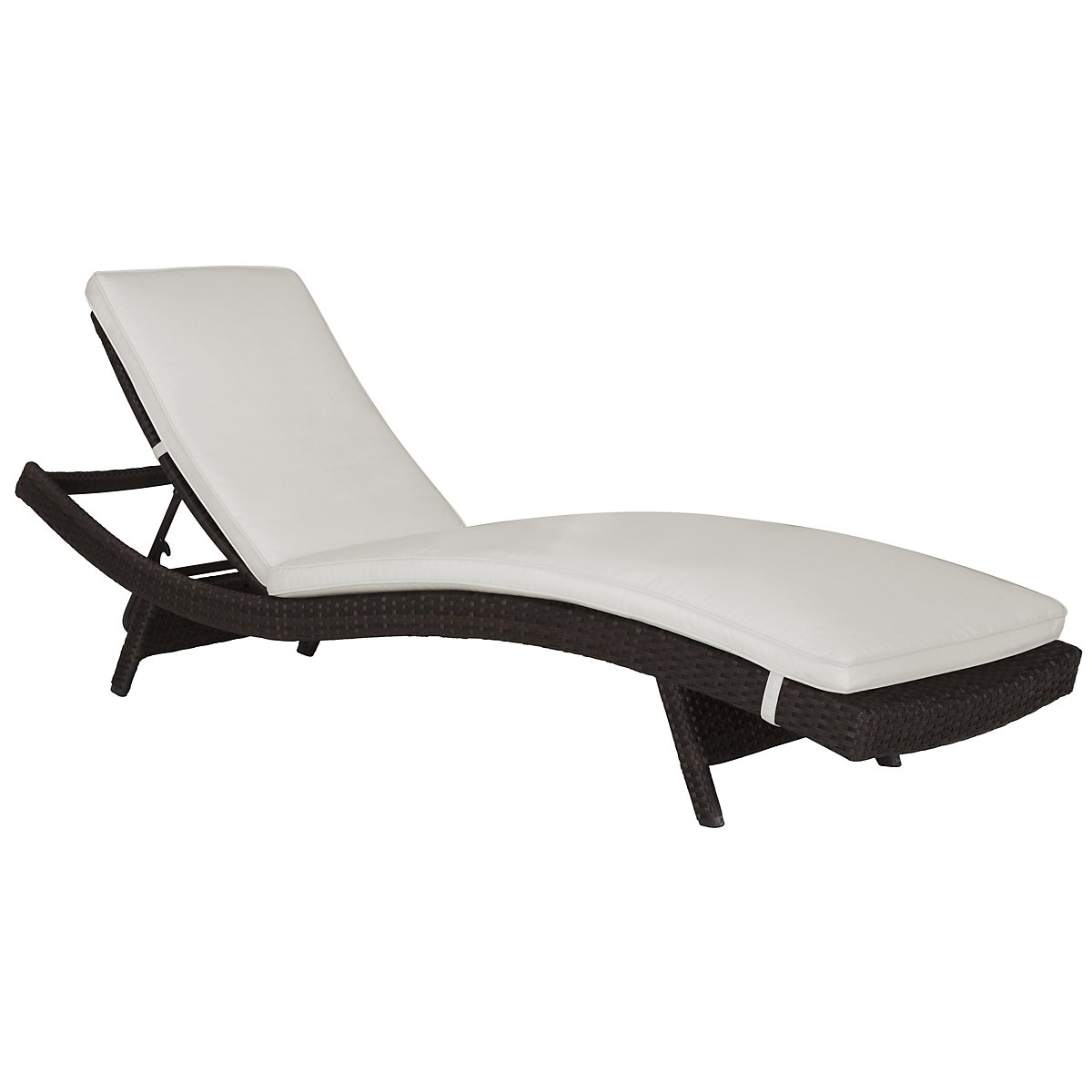 Grate White Cushioned Chaise