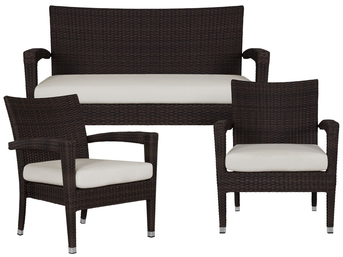 City Furniture Zen White Outdoor Living Room Set