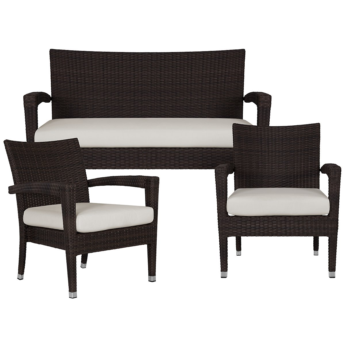 Zen White Outdoor Living Room Set