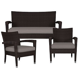 Zen Gray Outdoor Living Room Set
