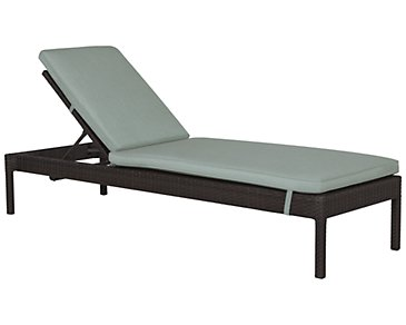 Zen Teal Cushioned Chaise
