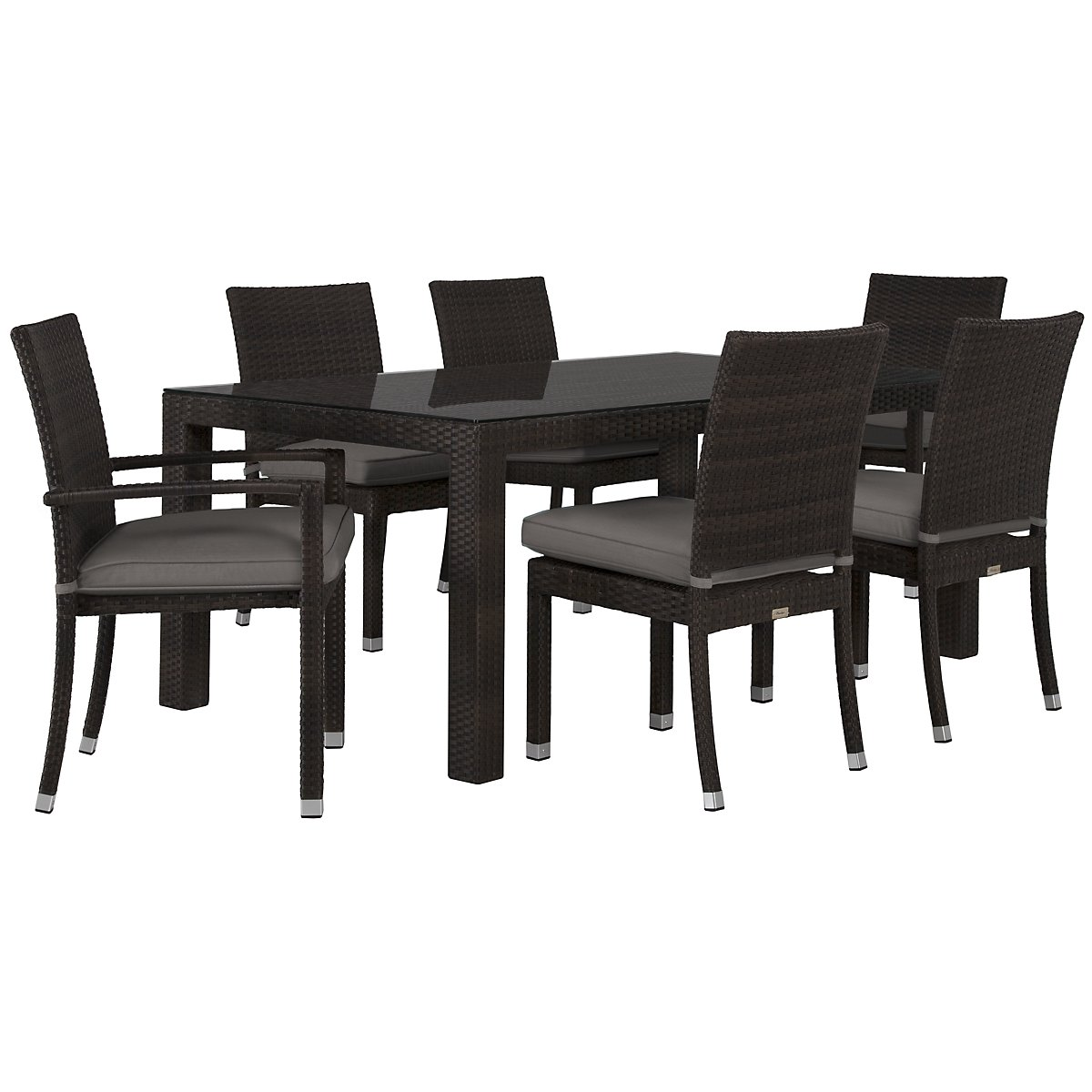 "Zen Gray 72"" Rectangular Table & 4 Chairs"