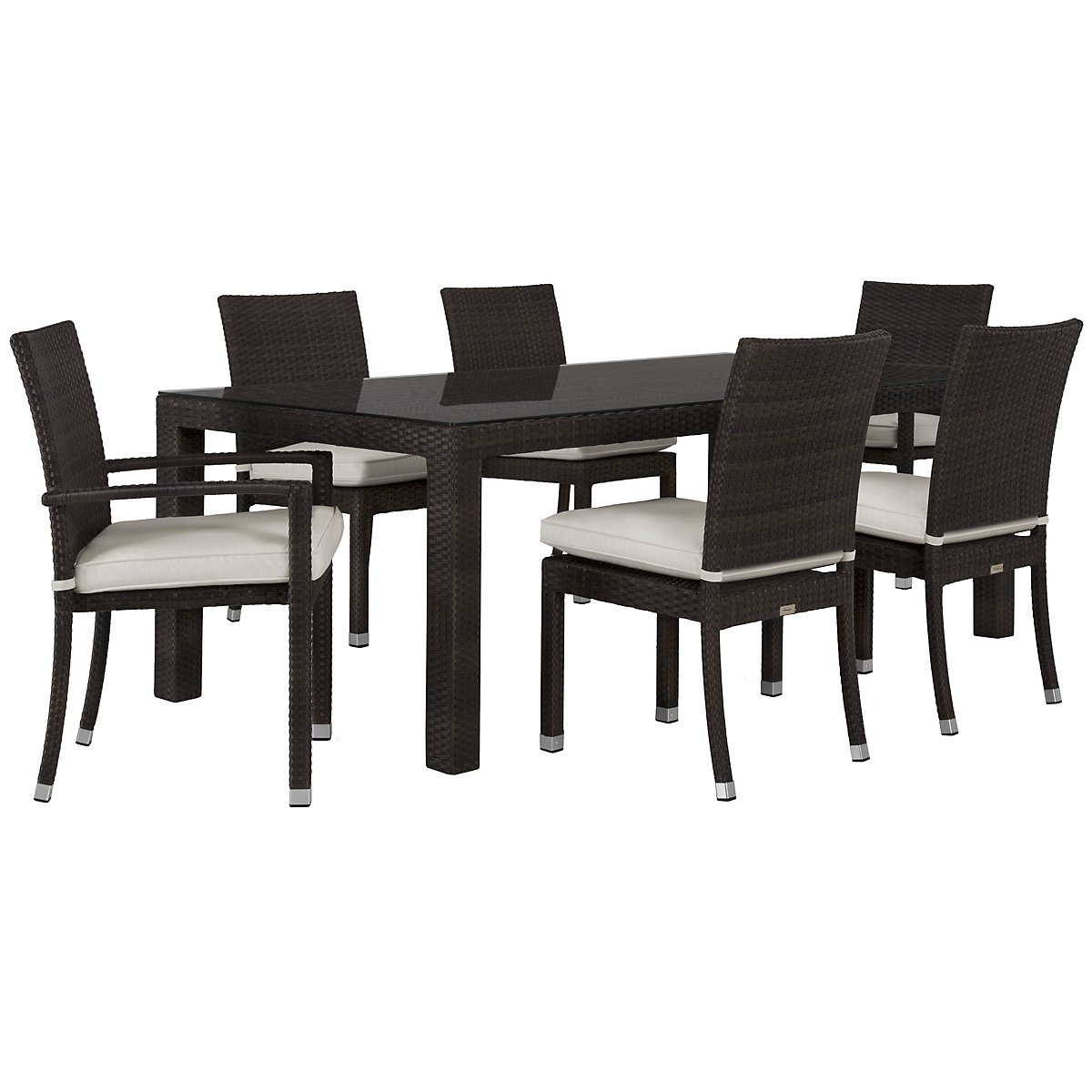 "Zen White 84"" Rectangular Table & 4 Chairs"