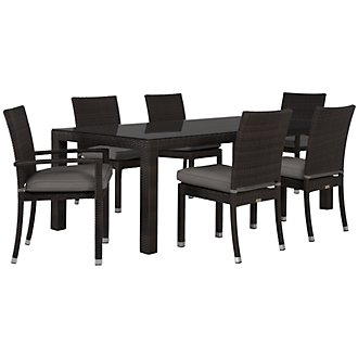 "Zen Gray 84"" Rectangular Table & 4 Chairs"