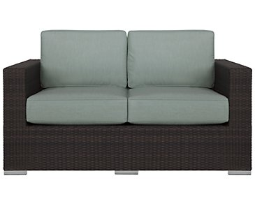 Fina Teal Loveseat