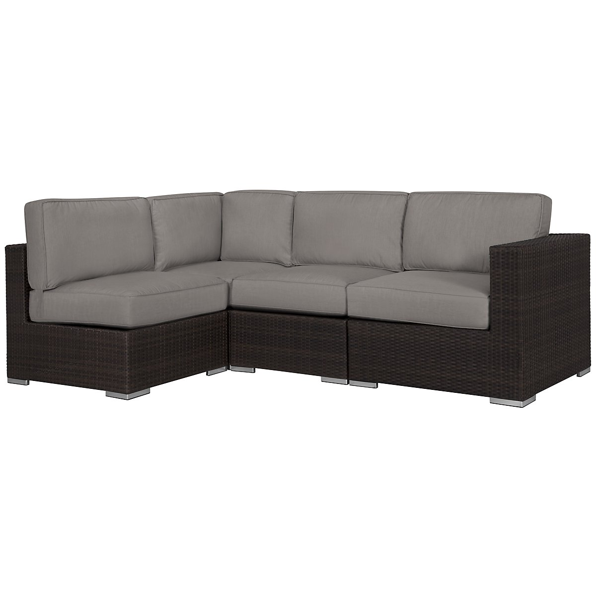 Fina Gray 4-Piece Modular Sectional