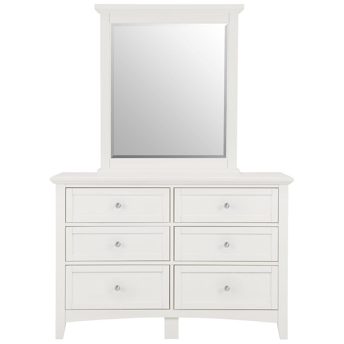 city furniture captiva white small dresser mirror