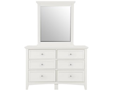 Captiva White Small Dresser & Mirror