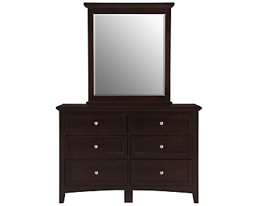 Captiva Dark Tone Small Dresser & Mirror