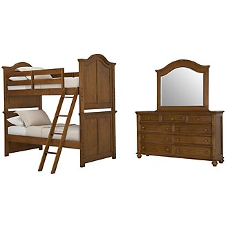 Claire Mid Tone Bunk Bed Bedroom