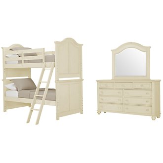 Claire White Bunk Bed Bedroom