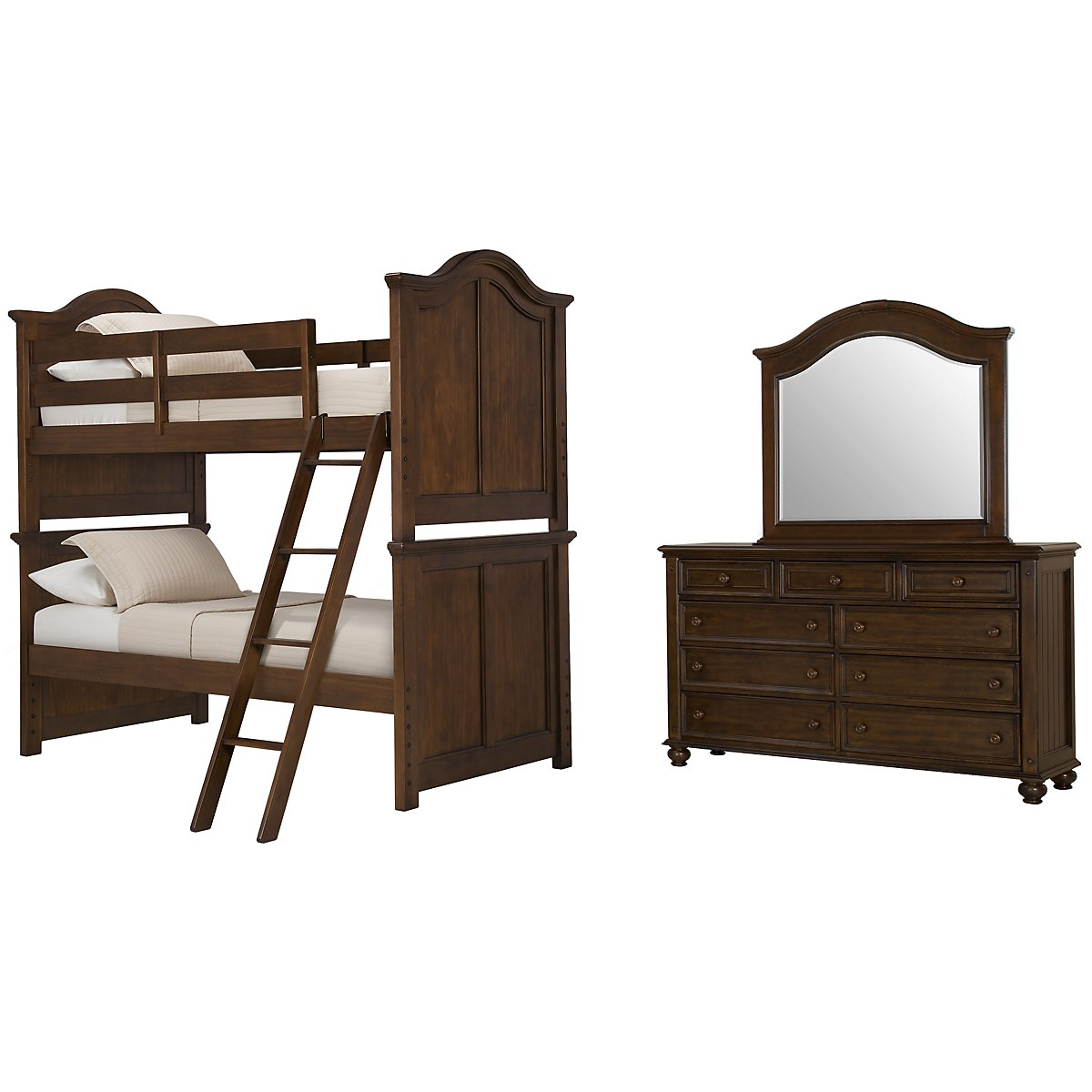Claire Dark Tone Bunk Bed Bedroom
