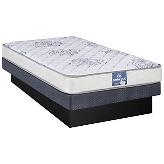 Serta Sertapedic Glenlawn Plush Innerspring Low-Profile Mattress Set