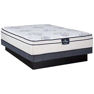 Serta Perfect Sleeper Belltower Plush Innerspring Euro Top Low-Profile Mattress Set