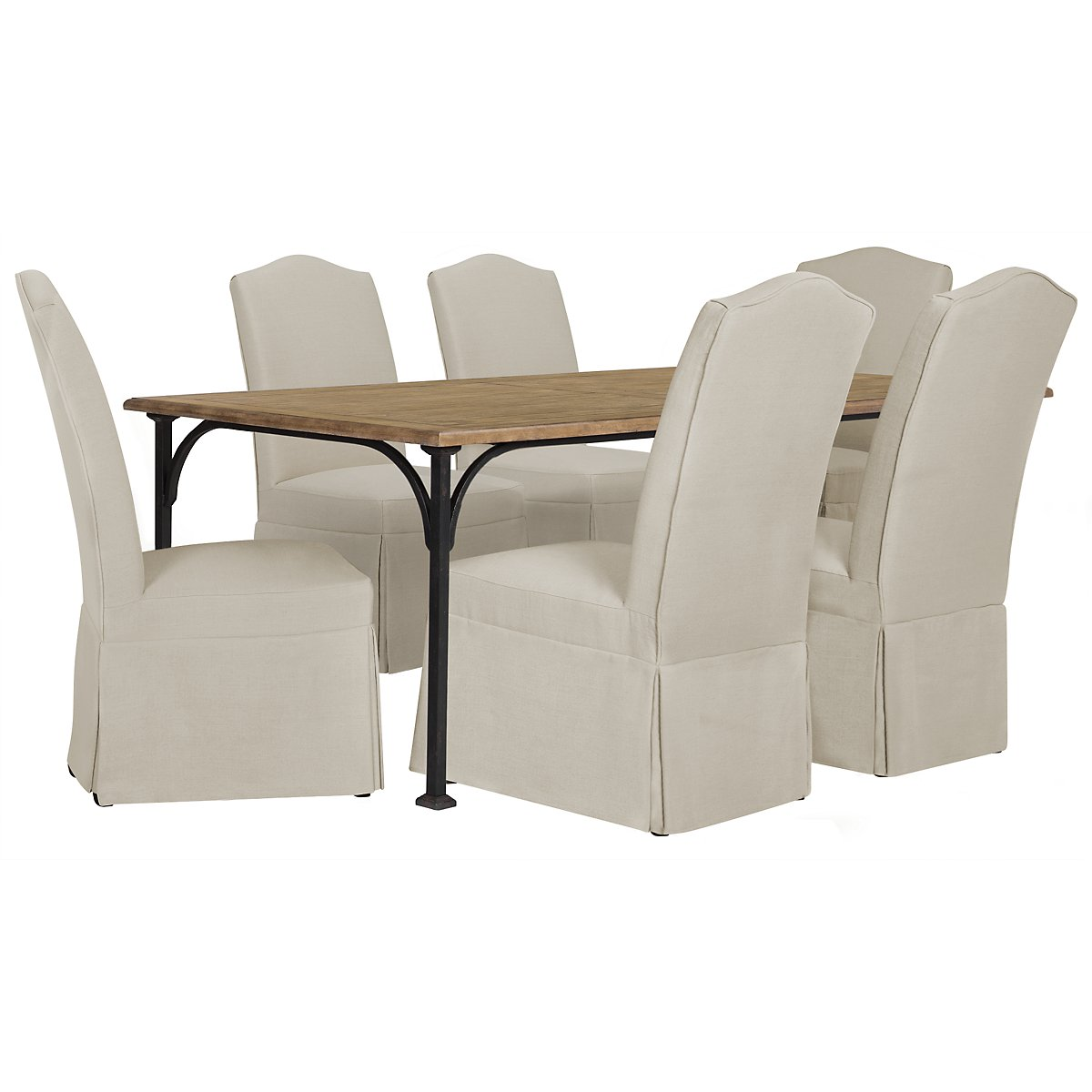 Shelbourne2 Mid Tone Rectangular Table & 4 Upholstered Chairs