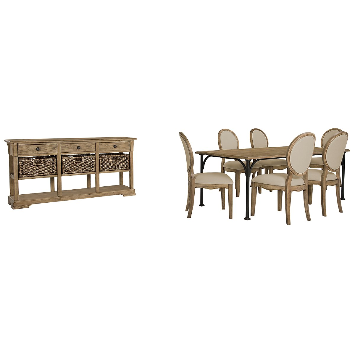 Shelbourne2 Mid Tone Rectangular Dining Room