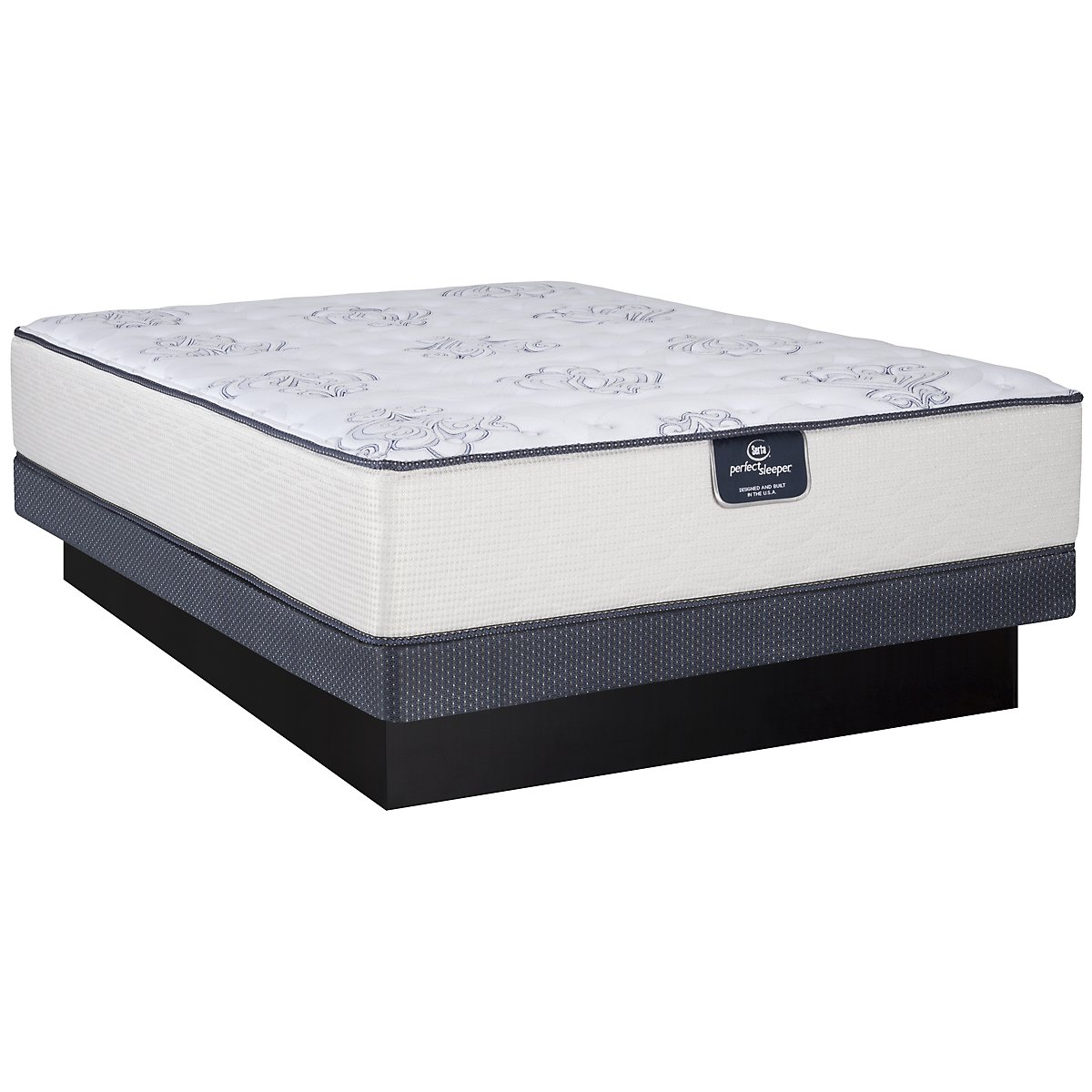 Serta Perfect Sleeper Belltower Firm Innerspring Low-Profile Mattress Set