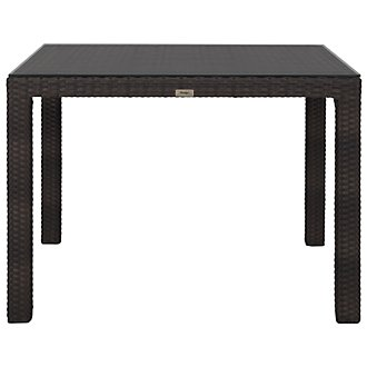 "Zen Dark Tone 40"" Square Table"
