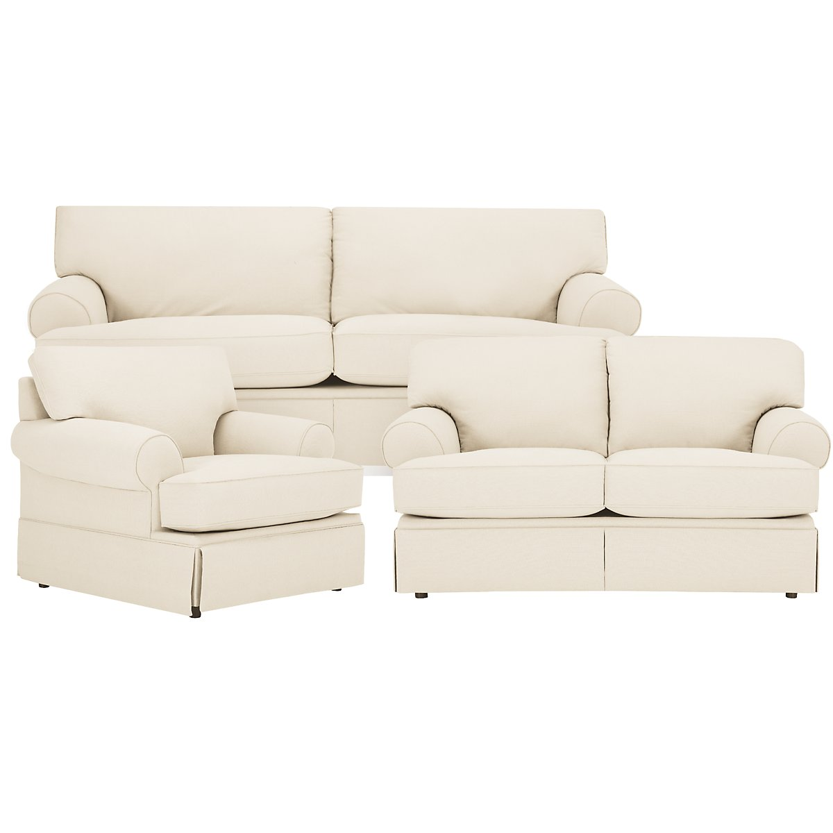 Kylie Beige Cotton Living Room