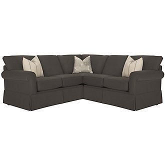 Product Image: Leona Gray Fabric Small Two-Arm Sectional