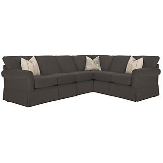 Product Image: Leona Gray Fabric Large Two-Arm Sectional