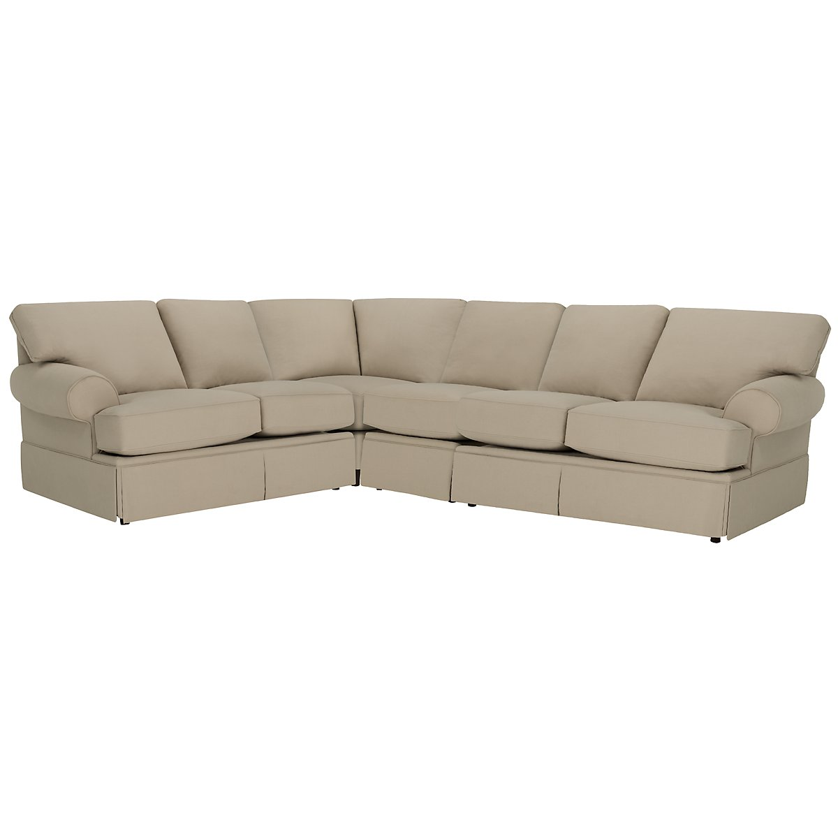Kylie Dark Taupe Cotton Large Two-Arm Sectional