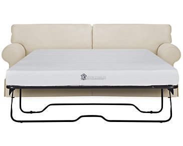 Kylie Beige Cotton Memory Foam Sleeper