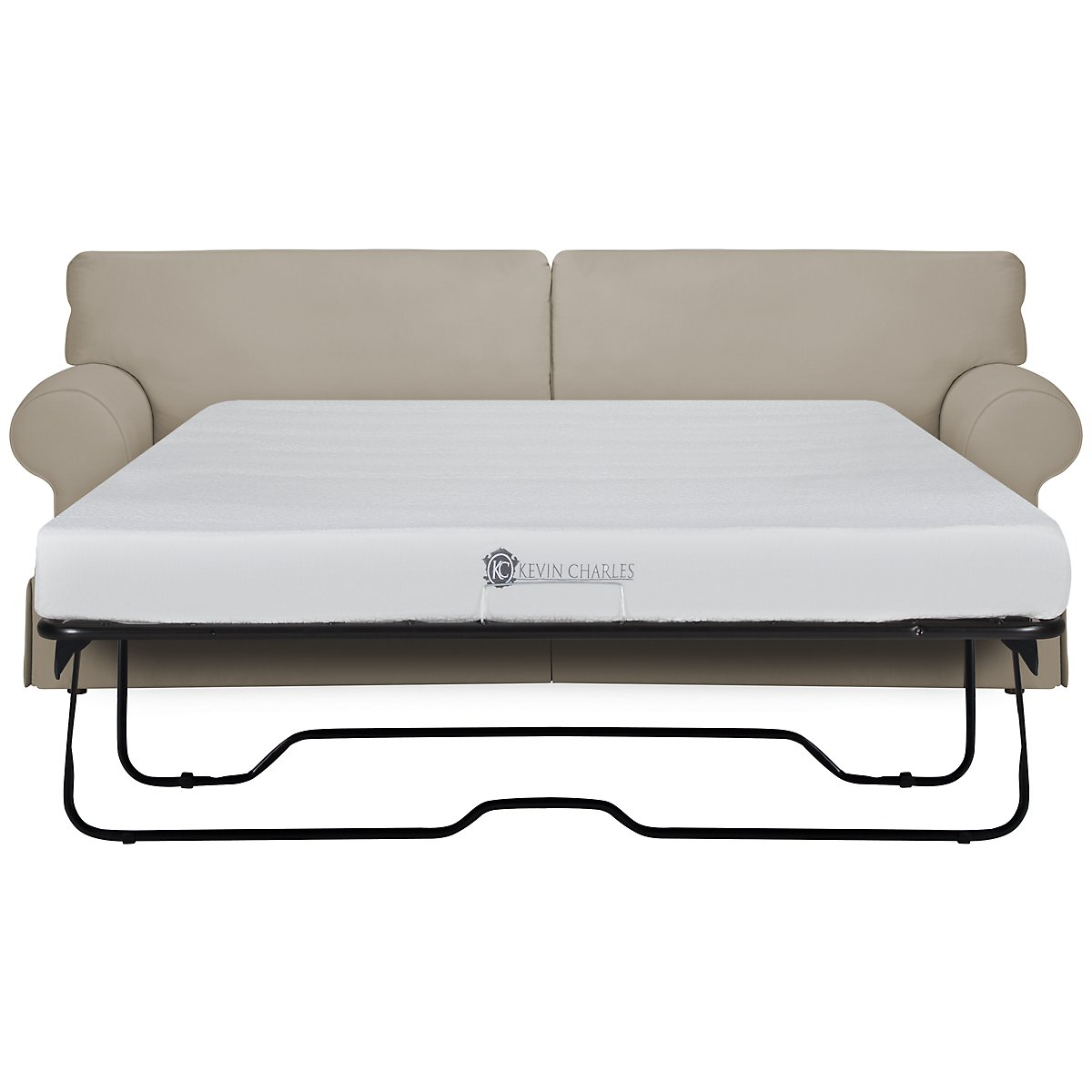 Kylie Dark Taupe Cotton Memory Foam Sleeper