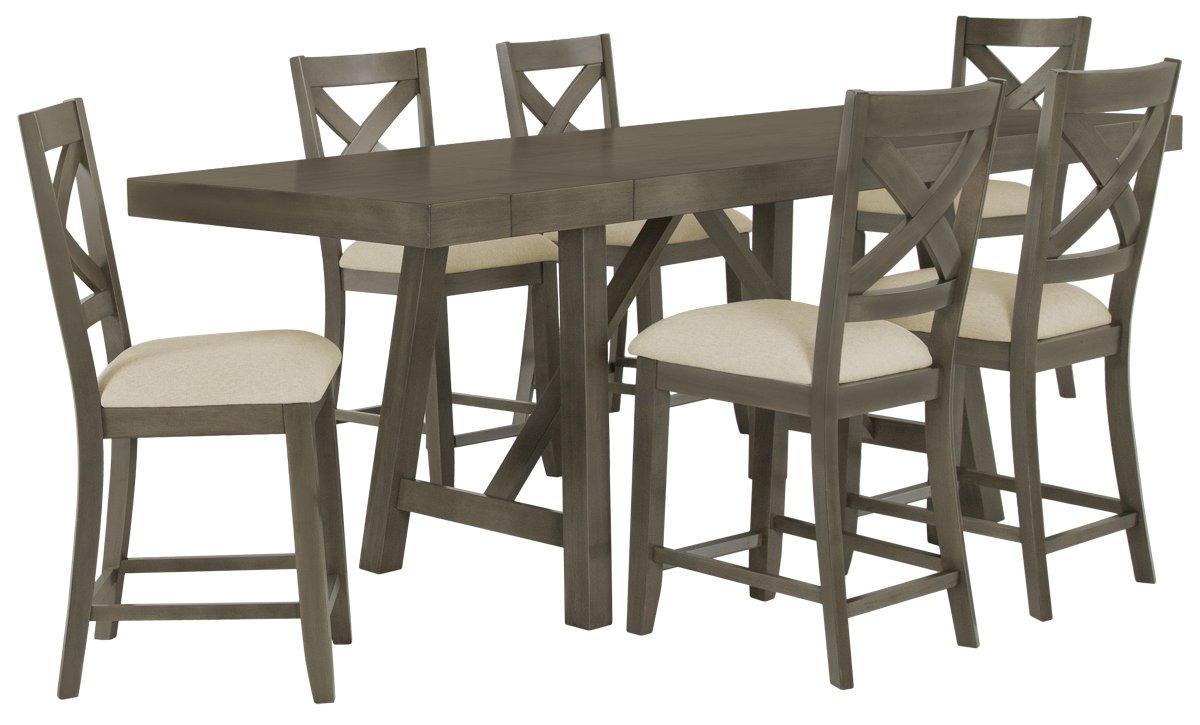 City Furniture Omaha Gray High Dining Room