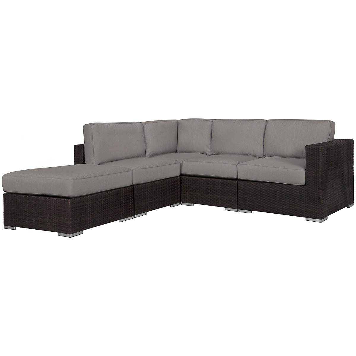Fina Gray 5-Piece Modular Sectional