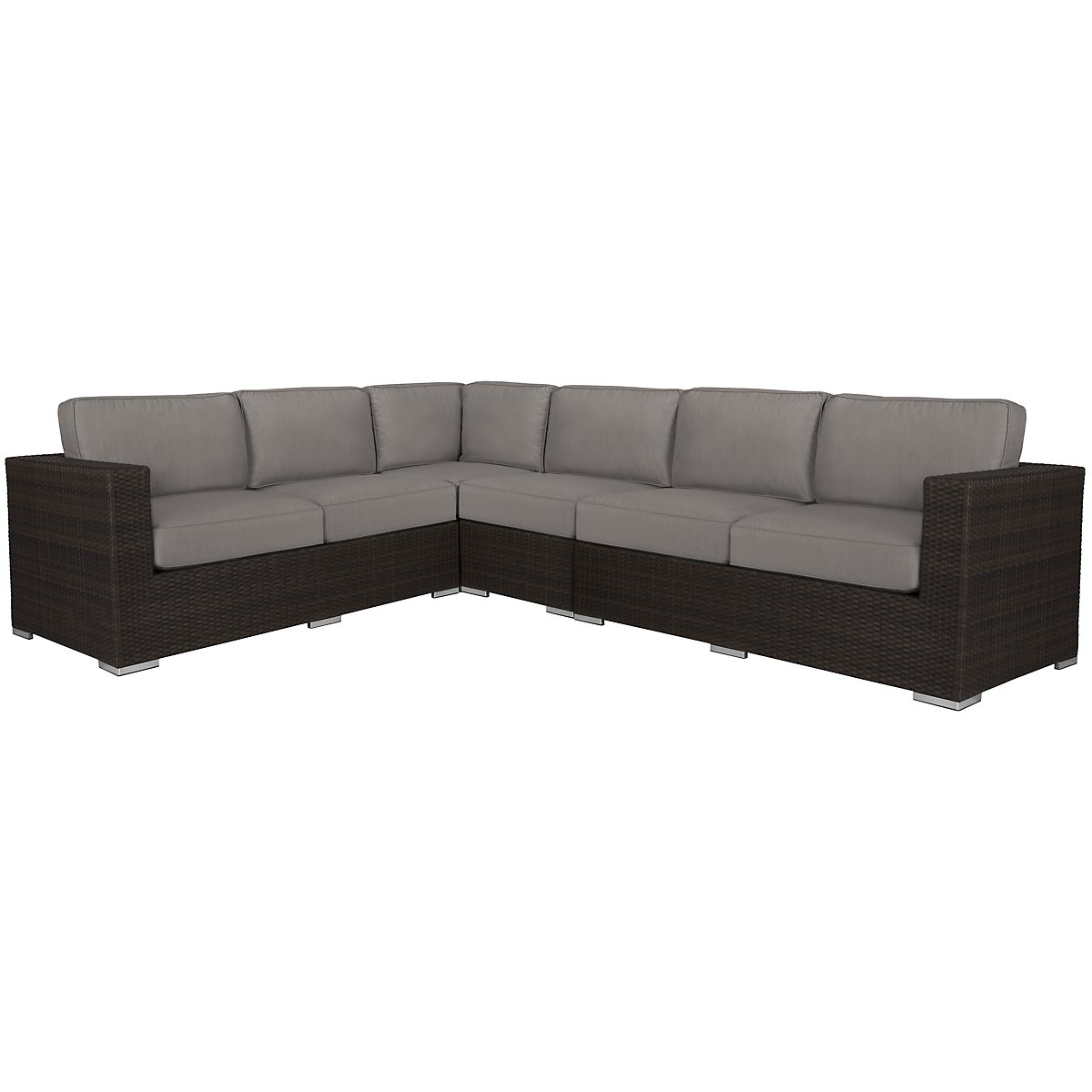 Fina Gray Large Two-Arm Sectional