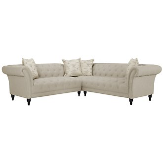 Hutton Lt Taupe Linen Right Arm Sectional