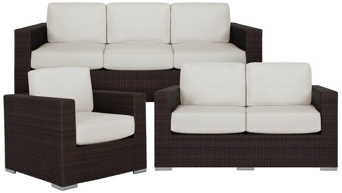 City Furniture Fina White Outdoor Living Room Set